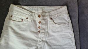 Gestuz Jeansy z prostymi nogawkami biały