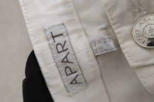 Apart Spodnie ze stretchu biały Bawełna