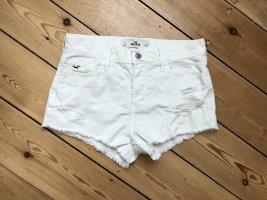 Weiße Jeansshorts von Hollister in Größe 5 / W27