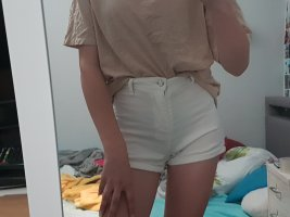 Tally Weijl High-Waist-Shorts white