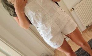 H&M DENIM Salopette courte blanc