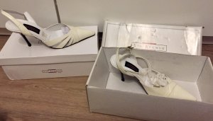 5th Avenue Slingback Pumps white-natural white