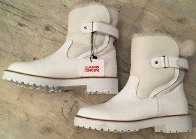 Tamaris Botas de piel blanco Cuero