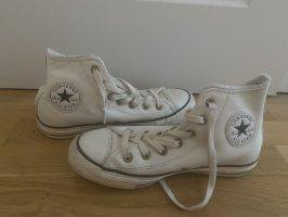 Weiße Leder Converse
