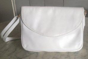 Weiße-Lederhandtasche