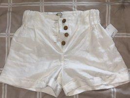 Weiße Leinen-Shorts