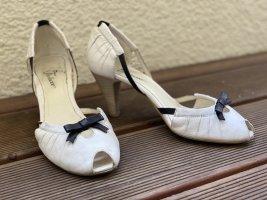 Danny Shoes Peep Toe Pumps white