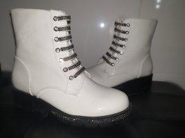 weiße schicke Boots/ Springerstiefel