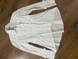Weiße Schößchen Bluse ...Rüschen