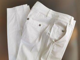 Strenesse Blue Pantalon taille basse blanc coton