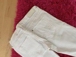 Weiße Stretch Jeans