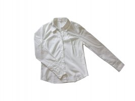 weiße taillierte Bluse