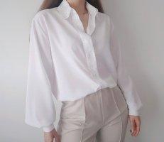 Weiße Vintage Bluse Gr. XL