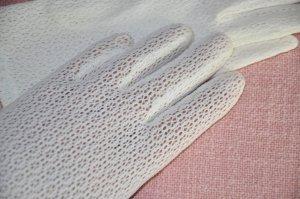Gant à doigts blanc coton
