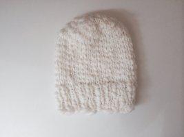 H&M Chapeau en tricot blanc