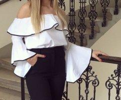 Weiße Zara Bluse XS