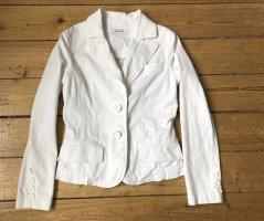 Weißer Blazer ZARA aus 97% Baumwolle Gr. S/36