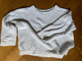 Weißer cropped Pullover