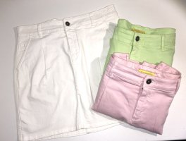 Witty Knitters Jupe en jeans multicolore coton