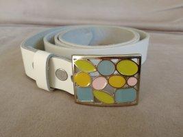 Leather Belt white