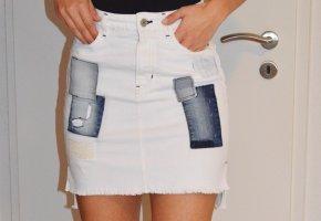Guess Gonna di jeans bianco-blu