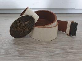 Tchibo / TCM Cintura di pelle bianco-oro Pelle