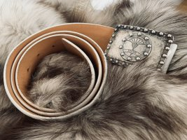 Joop! Cintura di pelle bianco-argento Pelle