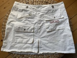 Gonna di jeans bianco-bianco sporco