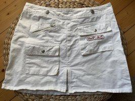 weißer Minirock aus Denim / Jeansrock in Größe 36