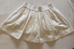 H&M Falda de encaje blanco-blanco puro