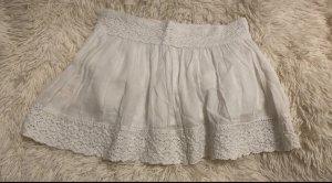 Amisu Falda de encaje blanco