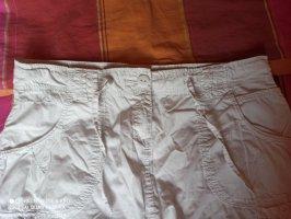 Jupe cargo blanc coton