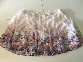 Weißer Sommerrock mit Blumenmuster von C&A
