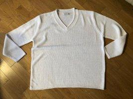 weißer Strickpullover, Gr. XL