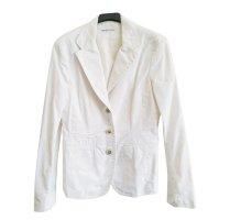 Weißer Trussardi Baumwoll Blazer