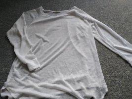 weißes durchscheinendes Langarm-Shirt in Größe 40 - Atmosphere