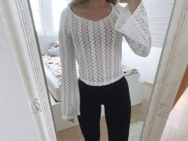 Brandy & Melville Camisa de ganchillo blanco