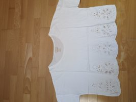 weißes oversized cropped top