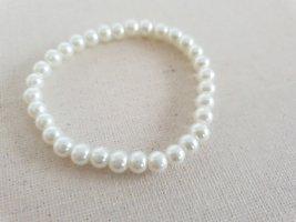 Weißes Perlen Armband Armschmuck Perlenschmuck Schmuck