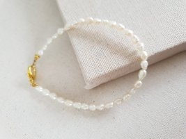 Boutique Ware Bransoletki z perłami jasnobeżowy