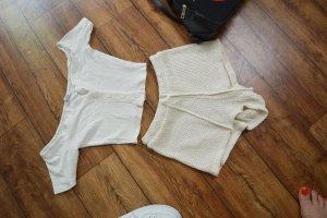 Weisses Ribbed Carmen 'Cropped Shirt Gr. 36/38 Fashion Nova