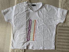 Weißes Shirt mit Schrift von Selected Femme