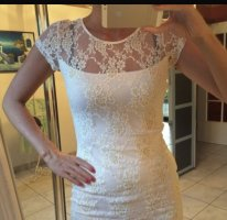 Melrose Lace Dress white-gold-colored