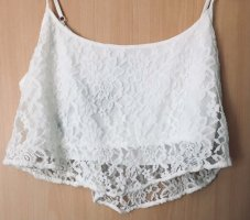 Only Fashion Cropped Top white