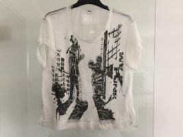 Weißes T-Shirt mit Disney Motiv Gr. M