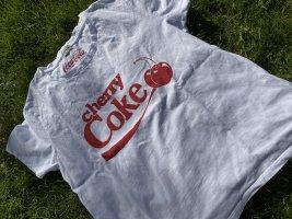 weißes T-shirt mit rotem Aufdruck