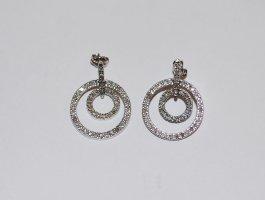 Weißgold-Ohrringe mit Diamanten