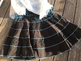 Xanaka Falda gitana negro-azul aciano