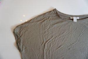 Amisu Camicia oversize grigio-verde-cachi