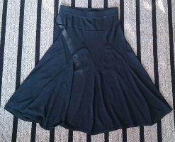 Cinque Circle Skirt dark blue viscose